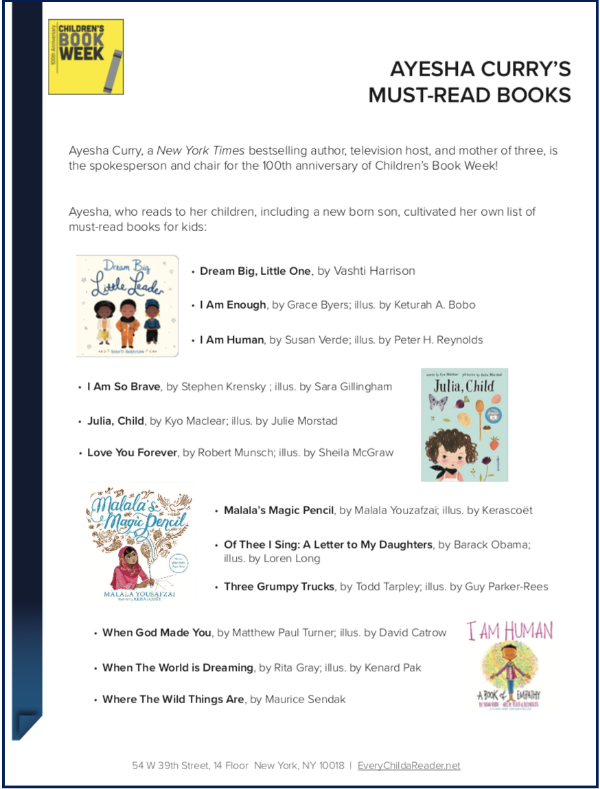 Ayesha Curry Book List