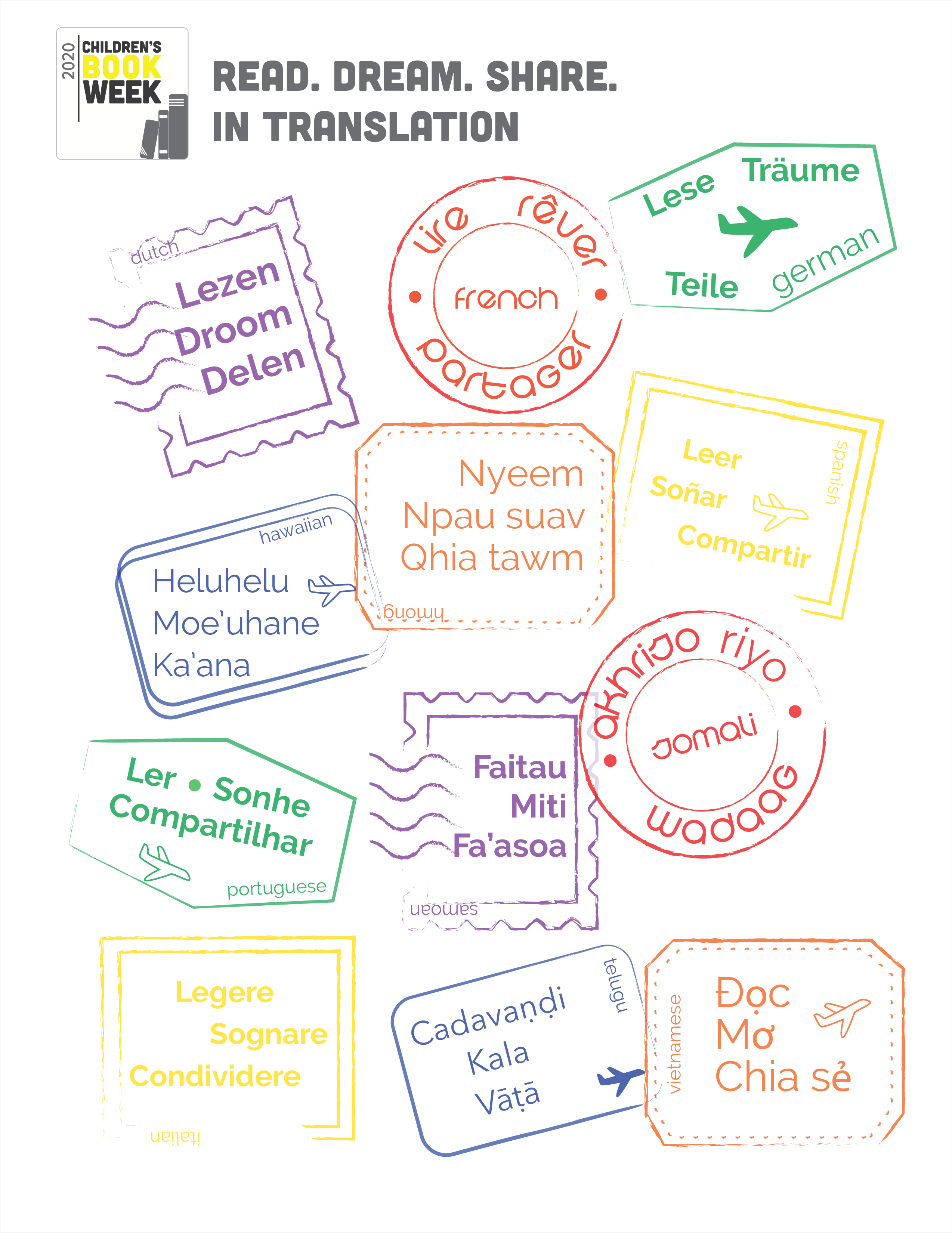 Language Stamps Page