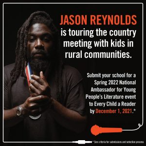 Jason Reynolds to Serve Third Year as National Ambassador for Young People's Literature